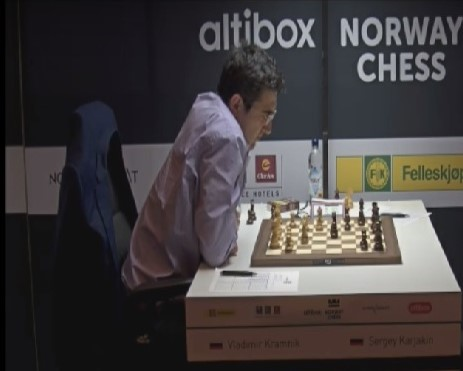 Kramnik opp i tet med Nakamura under Norway Chess